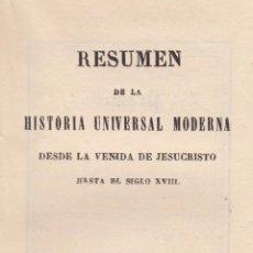 Libros antiguos: VARIOS. HISTORIA UNIVERSAL MODERNA. LIBRERÍA DE LA NIÑEZ. MADRID, 1854.. Lote 102221987