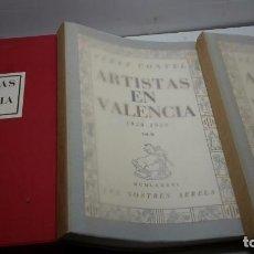 Libros antiguos: ARTISTAS EN VALENCIA 1936-1939. 2 TOMOS PÉREZ CONTEL, RAFAEL:. Lote 102382875