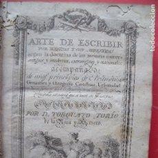 Libros antiguos: TORCUATO TORIO DE LA RIVA Y HERRERO.-ARTE DE ESCRIBIR POR REGLAS.-GRAMATICA.-GRABADOS.-MADRID.-1802.. Lote 102429471
