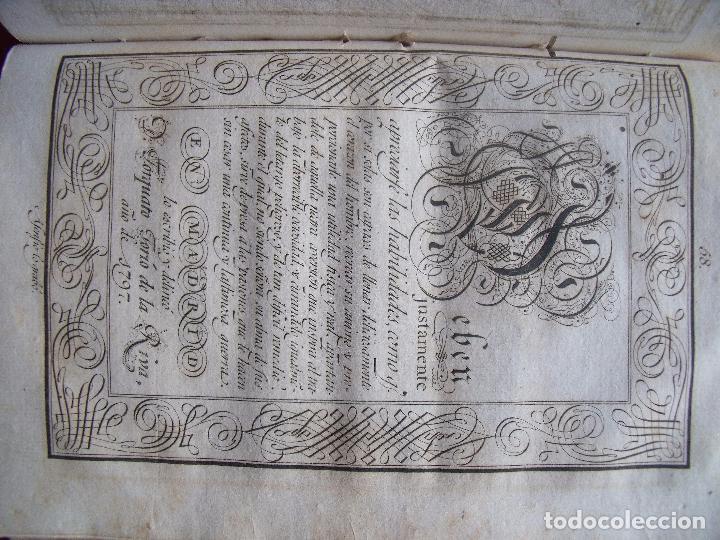 Libros antiguos: TORCUATO TORIO DE LA RIVA Y HERRERO.-ARTE DE ESCRIBIR POR REGLAS.-GRAMATICA.-GRABADOS.-MADRID.-1802. - Foto 6 - 102429471
