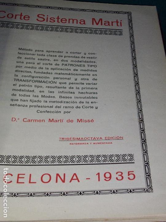 Libros antiguos: CORTE SISTEMA MARTI - 1935 - SASTRERIA - LENCERIA - Foto 4 - 102488027