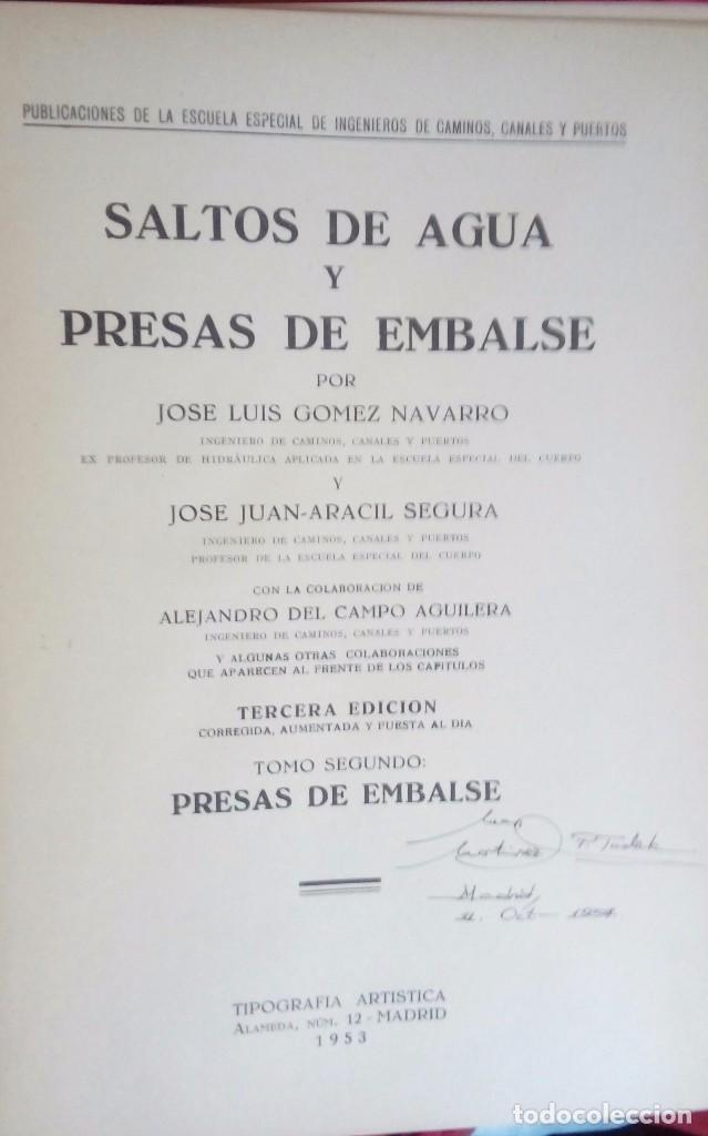 Libros antiguos: Salto de agua y presa de envalse - Foto 7 - 102507955