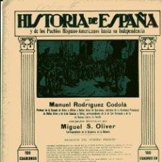 Libros antiguos: HISTORIA DE ESPAÑA Y DE LOS PUEBLOS HISPANOAMERICANOS HASTA SU INDEPENDENCIA Nº 38. Lote 102525183