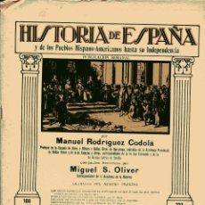 Libros antiguos: HISTORIA DE ESPAÑA Y DE LOS PUEBLOS HISPANOAMERICANOS HASTA SU INDEPENDENCIA Nº 40. Lote 102525287