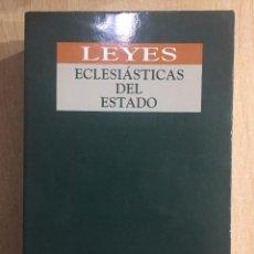 Libros antiguos: LEYES ECLESIASTICAS DEL ESTADO . Lote 102540803