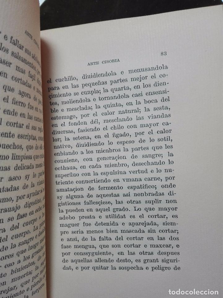 Libros antiguos: ARTE CISORIA - ARTE DE TRINCHAR O CORTAR CON CUCHILLO CARNES Y DEMÁS VIANDAS - ENRIQUE DE VILLENA - - Foto 3 - 102682535