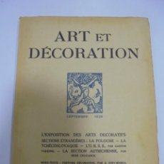 Libros antiguos: REVISTA FRANCESA. ART ET DECORATION. SEPTEMBRE 1925. PARIS. VER FOTOS. Lote 102685359