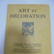 Libros antiguos: REVISTA FRANCESA. ART ET DECORATION. JUILLET 1925. PARIS. VER FOTOS. Lote 102685423