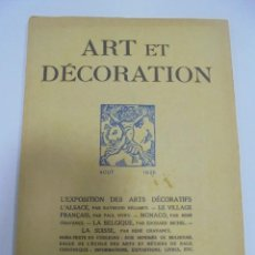 Libros antiguos: REVISTA FRANCESA. ART ET DECORATION. AOUT 1925. PARIS. VER FOTOS. Lote 102685531