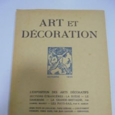 Libros antiguos: REVISTA FRANCESA. ART ET DECORATION. OCTOBRE 1925. PARIS. VER FOTOS. Lote 102685651