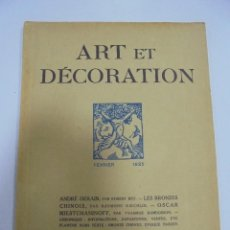 Libros antiguos: REVISTA FRANCESA. ART ET DECORATION. FEVRIER 1925. PARIS. VER FOTOS. Lote 102685911