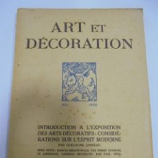 Libros antiguos: REVISTA FRANCESA. ART ET DECORATION. MAI 1925. PARIS. VER FOTOS. Lote 102686103