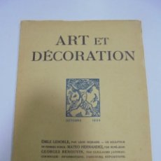 Libros antiguos: REVISTA FRANCESA. ART ET DECORATION. OCTOBRE 1924. PARIS. VER FOTOS. Lote 102686647