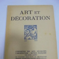 Libros antiguos: REVISTA FRANCESA. ART ET DECORATION. JUIN 1925. PARIS. VER FOTOS. Lote 102686811