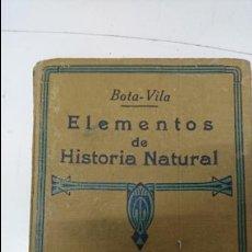Libros antiguos: ELEMENTOS DE HISTORIA NATURAL. Lote 102490219