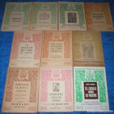 Libros antiguos: LOTE 10 LIBROS COLECCION COLLECCIÓ POPULAR BARCINO ORTOGRAFIA CATALAN GRAMATICA CATALANA INCLUYE Nº1. Lote 102774975