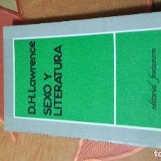 Libros antiguos: SEXO Y LITERATURA . Lote 102841271