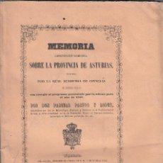 Libros antiguos: PASCUAL PASTOR LOPEZ. MEMORIA GEOGNÓSTICA-AGRÍCOLA SOBRE LA PROVINCIA DE ASTURIAS. MADRID, 1853. Lote 102846327