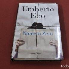 Libros antiguos: NÚMERO ZERO - UMBERTO ECO - ROSA DELS VENTS - NOB. Lote 102956319