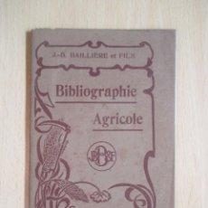 Libros antiguos: BIBLIOGRAPHIE AGRICOLE (REVISTA SEMANAL ILUSTRADA). Lote 103044307