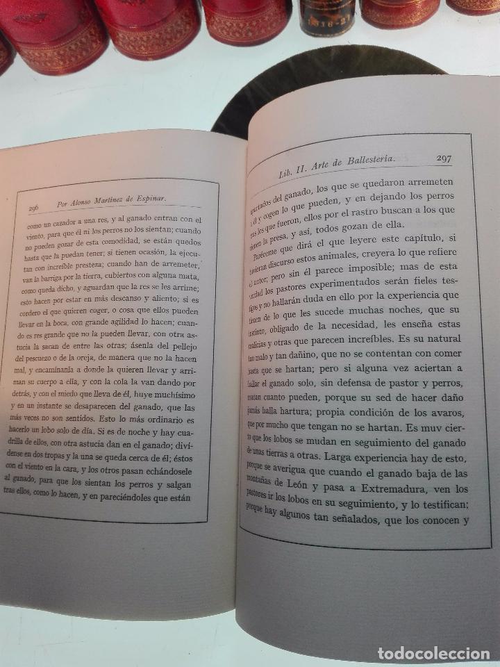 Libros antiguos: ARTE DE BALLESTERÍA Y MONTERÍA - EDICIÓN FACSIMIL DE 1644 - NUMERADA - ALONSO MARTINEZ DE ESPINAR - - Foto 8 - 103275599