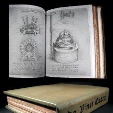 Alte Bücher - Año 1493 Facsimil Leonardo Da Vinci Codex Madrid Manuscrito Códice Tratado de Estática y Mecánica - 103337675