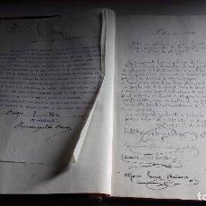 Libros antiguos: ANTIGUO LIBRO DE ACTAS....JUNTA DE DEFENSA DEL CUERPO DE TELEGRAFOS....1917.... Lote 103386395