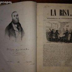 Libros antiguos: LA RISA. ENCICLOPEDIA DE ESTRAVAGANCIAS. 3 TOMOS EN 1 VOL. WENCESLAO AYGUALS (1843). Lote 103403307