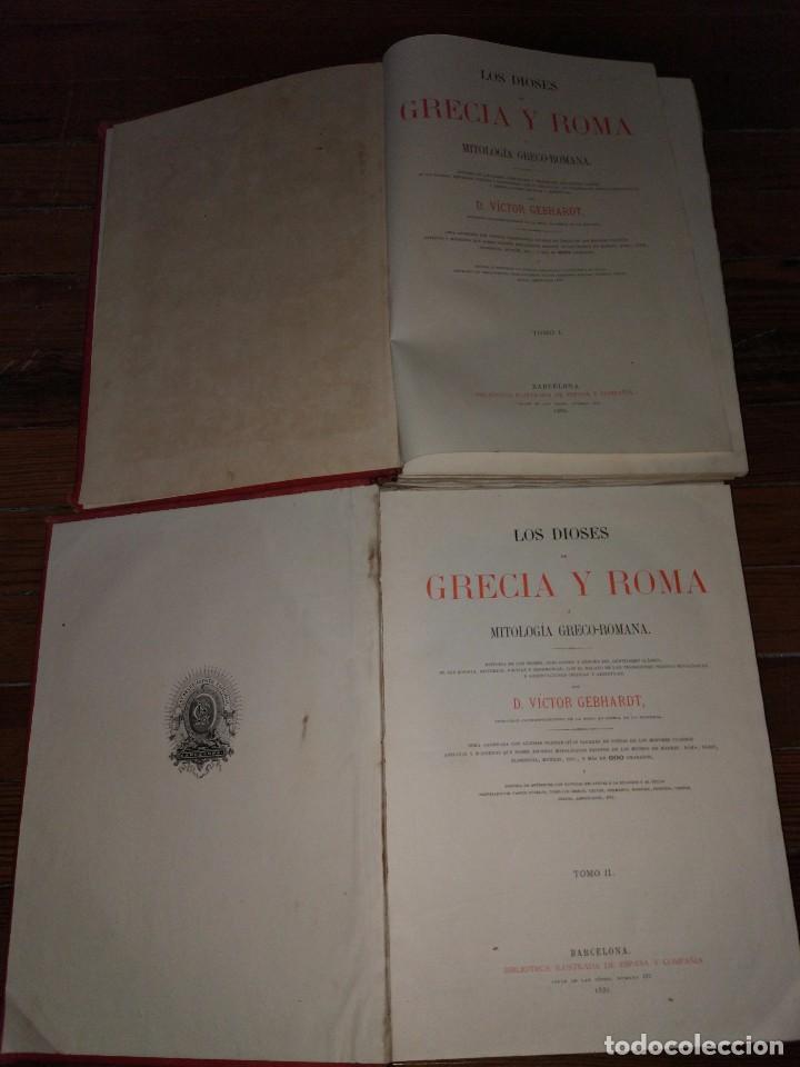 Libros antiguos: Los Dioses de Grecia y Roma. Mitología Greco-Romana. Víctor Gebhardt. 1880 (2 Vol) - Foto 4 - 103434391