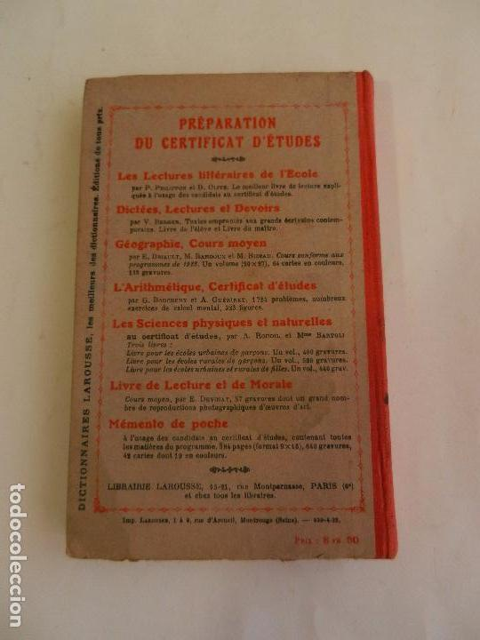 Libros antiguos: GRAMMAIRE COURS MOYEN PAR CLAUDE AUGÉ LIBRAIRIE LAROUSSE PARIS. - Foto 2 - 103528287