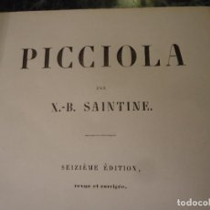 Libros antiguos: PICCIOLA OBRA DE X.B. SANTINE EN FRANCES. EDICION DE 1845. Lote 103547959