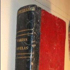 Libros antiguos: VARIAS NOVELAS 1863 SEVILLA MR. MERY, EL PARAISO TERRENAL, EL HOMBRE DE LA OREJA ROTA POR EDMUNDO. Lote 103558315