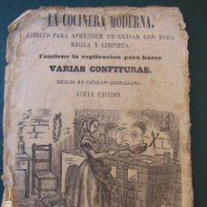 Libros antiguos: LA COCINERA MODERNA. BARCELONA. CASA JUAN LLORENS 1860. CATALÁN Y CASTELLANO. Lote 103618331
