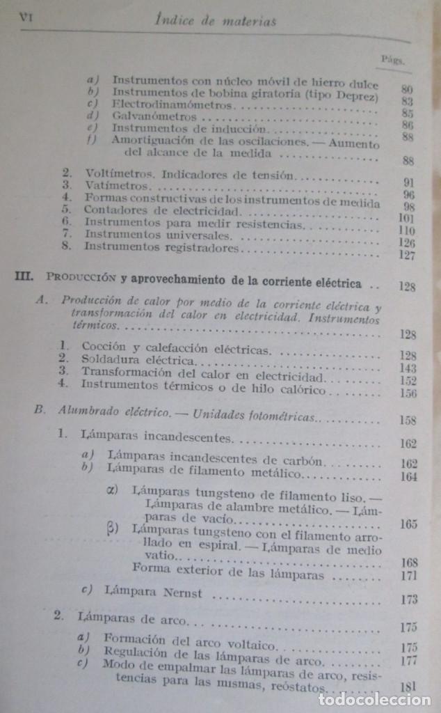 Libros antiguos: ELECTROTECNIA - Por K. Laudien - Edit. Labor 1929 -- Con 809 figuras - Foto 5 - 103631899