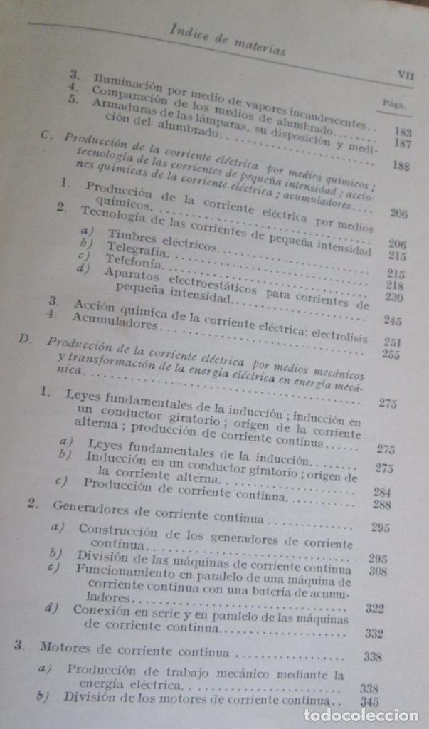 Libros antiguos: ELECTROTECNIA - Por K. Laudien - Edit. Labor 1929 -- Con 809 figuras - Foto 6 - 103631899