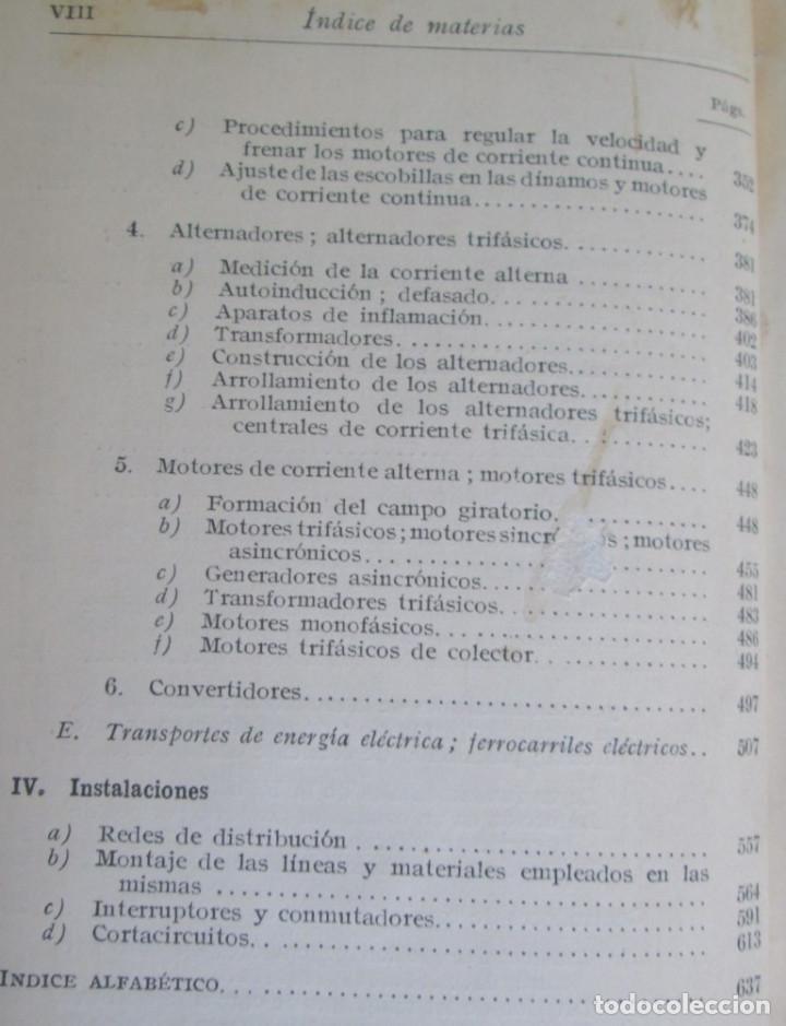 Libros antiguos: ELECTROTECNIA - Por K. Laudien - Edit. Labor 1929 -- Con 809 figuras - Foto 7 - 103631899