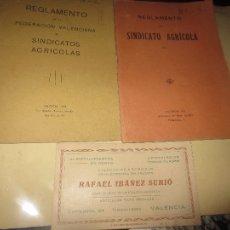 Libros antiguos: AGRICULTURA VALENCIA LIBRO ANTIGUO 1918 LOTE 2 SINDICATO Y FEDERACION VALENCIANA. Lote 85892720