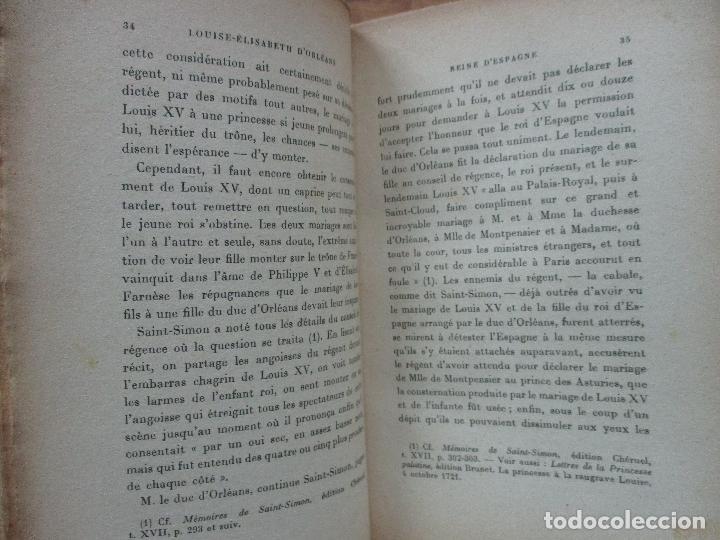Libros antiguos: LOUISE-ÉLISABETH D'ORLÉANS REINE D'ESPAGNE (1709-1742). COMTE DE PIMODAN. 1923. - Foto 4 - 103678507