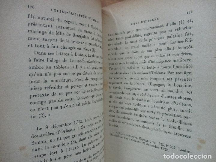 Libros antiguos: LOUISE-ÉLISABETH D'ORLÉANS REINE D'ESPAGNE (1709-1742). COMTE DE PIMODAN. 1923. - Foto 5 - 103678507