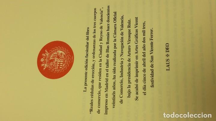 Libros antiguos: REALES CEDULAS DE ERECCION, Y ORDENANZAS DE LOS TRES CUERPOS DE COMERCIO. REYNO VALENCIA.(FACSIMIL) - Foto 7 - 103707743