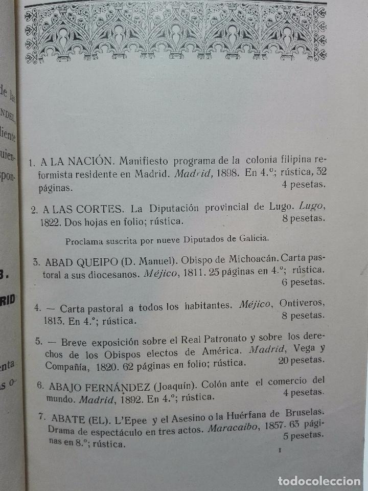 Libros antiguos: CATÁLOGO GENERAL DE LA LIBRERÍA DE VICTORIA VINDEL - 149 REPRODUCCIONES EN FACSIMIL - MADRID - - Foto 4 - 103778407