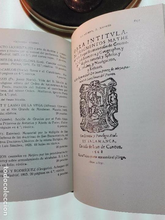 Libros antiguos: CATÁLOGO GENERAL DE LA LIBRERÍA DE VICTORIA VINDEL - 149 REPRODUCCIONES EN FACSIMIL - MADRID - - Foto 8 - 103778407