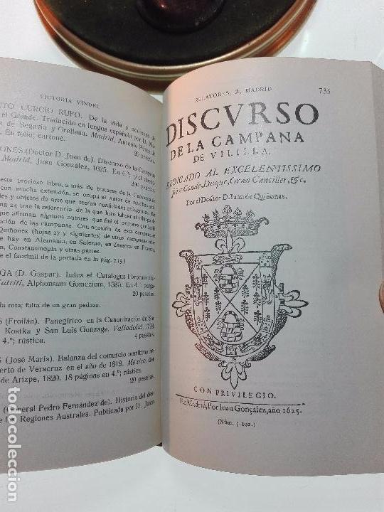 Libros antiguos: CATÁLOGO GENERAL DE LA LIBRERÍA DE VICTORIA VINDEL - 149 REPRODUCCIONES EN FACSIMIL - MADRID - - Foto 9 - 103778407