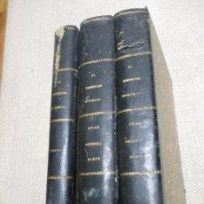 Libros antiguos: EL CARPINTERO MODERNO POR JUAN JUSTO UGUET 3 TOMOS, UNO DE TEXTO Y DOS DE ATLAS 432 LÁMINAS CA. 1880. Lote 103781779