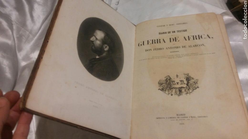 LIBRO DIARIO DE UN TESTIGO DE LA GUERRA DE AFRICA SIGLO XIX 1859 ILUSTRADO UNIFORMES BATALLAS ETC (Libros Antiguos, Raros y Curiosos - Historia - Otros)