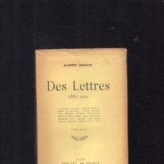 Libros antiguos: DES LETTRES 1887-1900 ALBERT SAMAIN . Lote 103809831