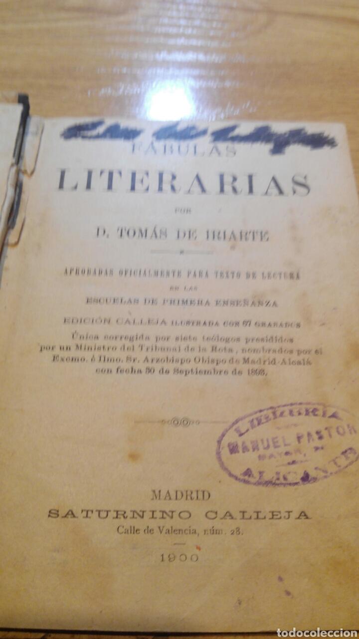 Libros antiguos: Fábulas de Iriarte 1900 - Foto 3 - 103858634