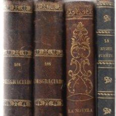 Libros antiguos: LOTE SIGLO XIX DUMAS LA NOVELA DE UNA MUJER PEREZ ESCRICH LOS DESGRACIADOS LA MUJER FUERTE. Lote 103911975