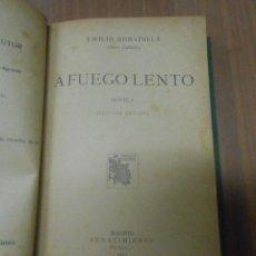 Libros antiguos: FRAY CANDIL EMILIO BOBADILLA A FUEGO LENTO MADRID RENACIMIENTO 1913. Lote 103926223