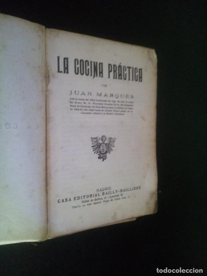 Libros antiguos: la cocina practica / juan marques - Foto 2 - 103933119